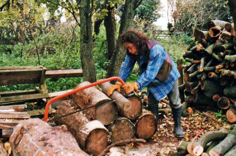 Cutting A Log : New anagama building kamatsuki あながま ブログ