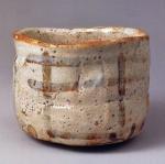 志野茶碗『卯花墻』 ◎11.6cm.d.△9.8cm.h. [ 国宝 ] 三井文庫蔵 ①