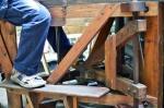Wooden framed kickwheel