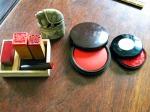 印と朱肉 - stamp seals & red ink